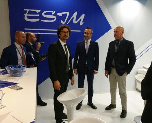 Innotrans 2018 il Ministro delle Infrastrutture Danilo Toninelli presso lo stand ESIM